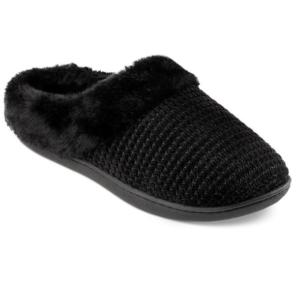 New Isotoner Signature Women's Black Slippers XL